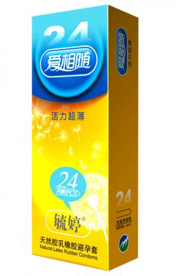 【爆品】毓婷天然胶乳橡胶避孕套(爱相随-活力超薄)24只装